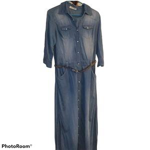 FADCG Chambray  Denim Maxi Dress
